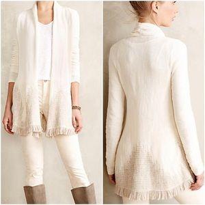 Moth Nevis cream alpaca fringe sweater top